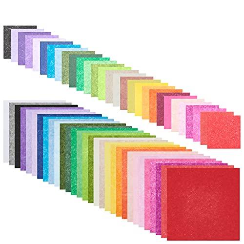 NBEADS 6000 cuadrados de papel de seda de colores, 30 colores, 2 tamaños, papel de seda de colores arcoíris para...
