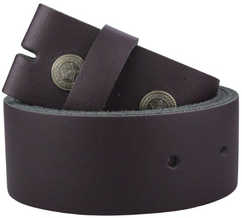 2Store24 Echt Leder Wechselgürtel | Gürtel für Gürtelschnalle/Buckle in bordeaux | Bundweite 125