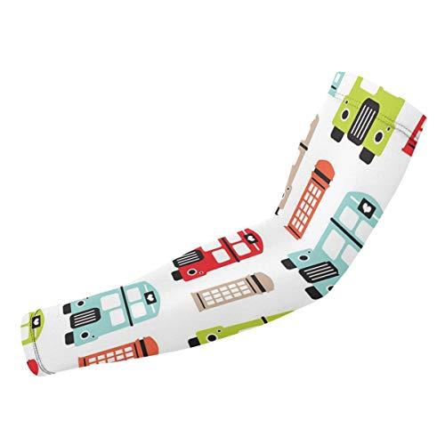 Londen Uk Icon Van De Road Boot UV Bescherming Koeling Arm Mouwen Arm Cover Zonwering Voor Mannen & Vrouwen Jeugd Prestaties Stretch & Vocht Wicking