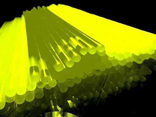DUE ESSE Bracciali Luminosi Fluorescenti 100 pz Starlight Braccialetti Giallo Fluo Feste Disco dj P15
