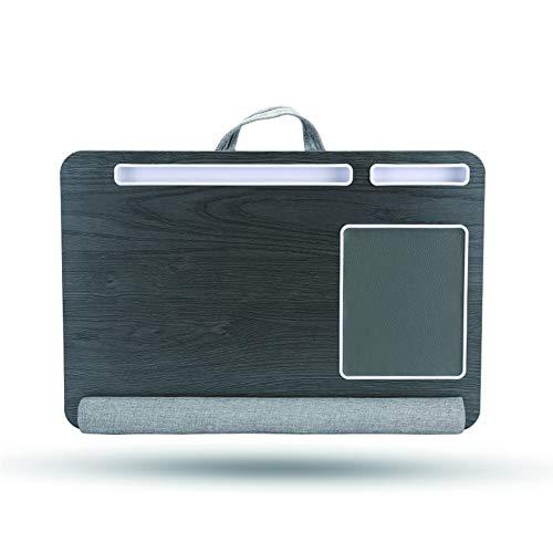 Multi-Function Notebook Bedding, Computer Tray, Ingebouwde Mouse Pad en Pols Pad, Lap Tafel, met tablet en telefoon Holder,B