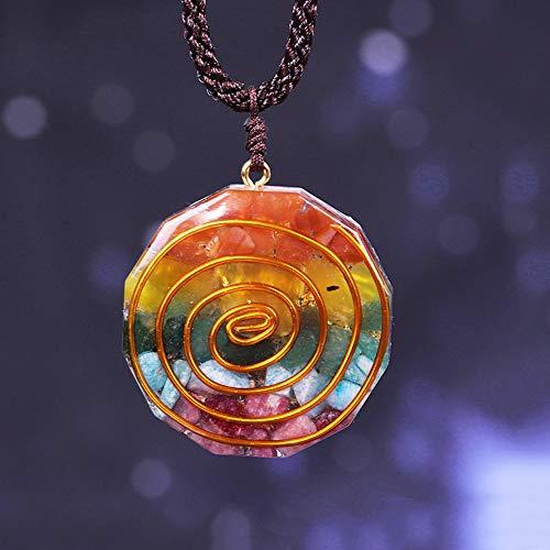 xtszlfj Colgante de Cristal de orgón arcoíris de 7 Chakras para Fortalecer...