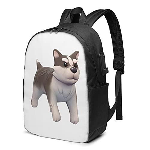 Husky - Zaino per cani da viaggio, con porta di ricarica USB, per uomini e donne da 17', Come mostrato, Taglia unica,