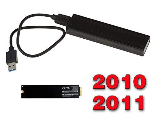 Kalea Informatique© - Gehäuse für SSD Mac Air 2010 2011 auf USB3 (USB 3.0 SuperSpeed) - Für SSD von MAC in 6+12 Pin (MC505 MC506 MC965 MC968)