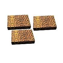 "Regal Pak three-piece LeopardテクスチャコットンFilledボックス61/ 8"" x 51/ 8"" x 11/ 8"" H"