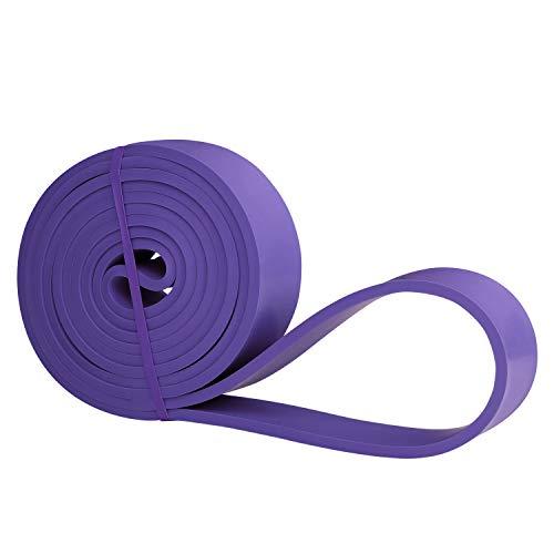 Amazon Brand - Umi - Banda Elástica de Resistencia Cuerda de Fuerza para Fitness, Crossfit, Pilates, Estiramientos,Dominadas (3 - Medium (Morado))