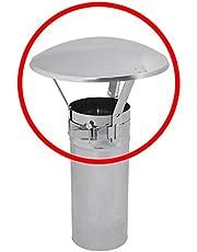 Roestvrij stalen schoorsteen buis motorkap eindigt regen afdekking beschermkap 60-80mm