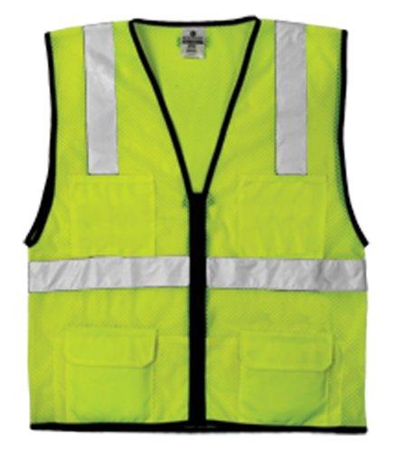 Kishigo 1191 Economy Series Ultra Cool Mesh 6 Pocket Vest, Fits 2X-Large and 3X-Large, Lime