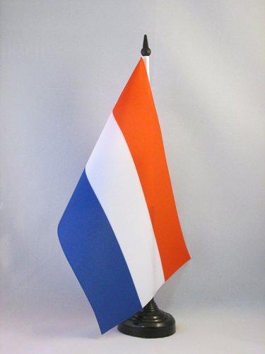AZ FLAG TISCHFLAGGE NIEDERLANDE 21x14cm - HOLLÄNDISCHE TISCHFAHNE 14 x 21 cm - flaggen