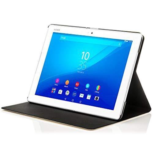 Forefront Cases Smart Hülle kompatibel für Sony Xperia Z4 10,1 Zoll Tablet-PC SGP771 Hülle Schutzhülle Tasche Case Cover Stand - R&um-Geräteschutz Smart Auto Schlaf Wach Funktion + Stift (WEIß)