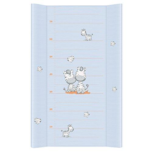 Ceba Baby Cambiador Bebe Impermeable para Niños y Niñas - Cebra Azul 80x50 cm