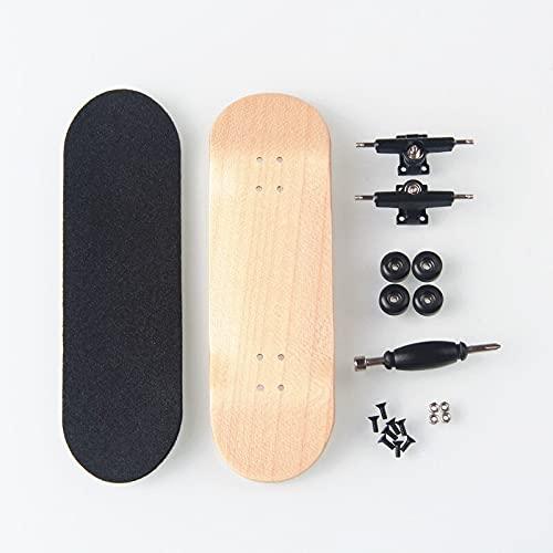 LIBAISI Monopatín de los Dedos 8 Color Skate Toys Tipo Profesional Rodamientos Ruedas Skid Pad Mapate Madera Monopatín Pieza de patinetas ( Color : Wood )
