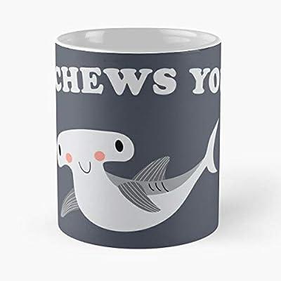 You Chews Hammerhead Shark Mug Valentines Graphic I Coffee Mug I Love You for Men Women Valentine's Day Wedding Anniversary