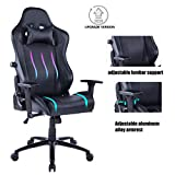 HEALGEN Big and Tall Gaming Chair with Footrest PC Computer Video Game Chair Racing Gamer Pu Leather Chair High Back Swivel Executive Ergonomic Office Chair with Headrest Lumbar Support Cushion