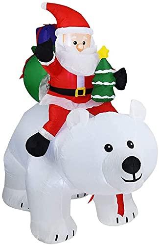 BDRSLX Halloween Gonfiabile 1,7 m di Natale Alto Natale Santa Claus Guida Che agita Bear Decorazione stagionale all'aperto Airblown Prato Prato Ornamento Bambola
