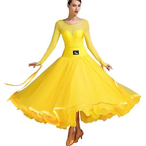 Ballsaal Kleider für Frauen Tanzen Modern Smooth Walzer Tango Wettbewerb Dancewear Tanzprüfung Kostüme Trikot Rock, L