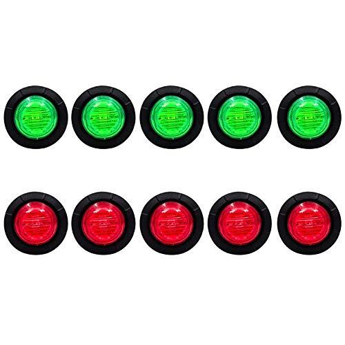 Gfhrisyty Paquete de 10 Luces LED Impermeables para Barcos Marinos, IluminacióN LED SubacuáTica, Luces LED para Uso General, para Yates, Veleros, Kayak