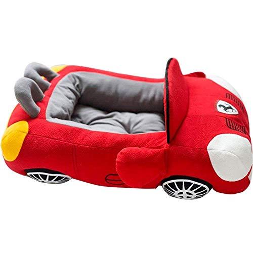 XHAEJ Nido de mascota para coche, cama lavable, casa de invierno para mascotas, cojín de sofá y gato cálido y suave y parte inferior impermeable para mascotas (color: rojo)