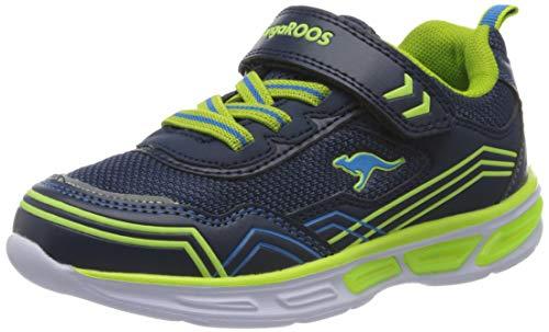 KangaROOS Unisex-Kinder KS-Orbit EV SL Sneaker, Blau (Dk Navy/Lime 4054), 33 EU