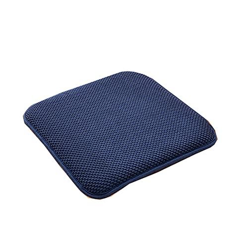 CCXX Pack de 4 Cojines para Sillas Cojín Decorativo de Asiento Poliéster Almohadilla Cómoda para Muebles de Jardin 40 * 40 * 2cm,Light Blue