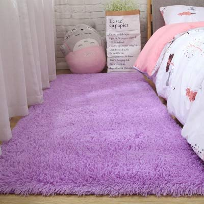 JINGMIAO Soft Rug Living Room Bay Home Modern Child Entrance Hall Girls Bed Long Wire Hairy Nordic Shaggy Large Size Hair Rug