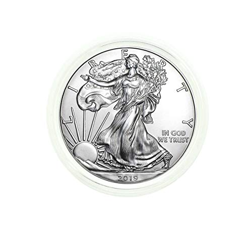 2019 - American Silver Eagle in Plastic Air Tite with our Certificate of Authenticity Dollar Uncirculated Us Mint