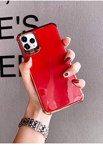 Estuches de teléfono con soporte de originalidad de diamantes de imitación de lujo para IPhone 12 mini 12 Pro Max 11 Pro X XR XS Funda máxima para iphone 7 8 P SE2, solo funda roja, para iPhone XS