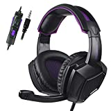 Stereo Gaming Headset for PS4, PC,Xbox One Controller, SADES SA920PLUS Noise Cancelling Over