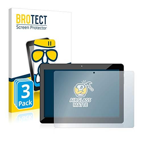BROTECT Protector Pantalla Cristal Mate Compatible con Odys Xelio 10 HD Plus Protector Pantalla Anti-Reflejos Vidrio, AirGlass (3 Unidades)