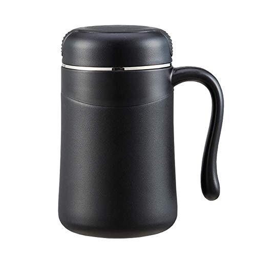 TSQ 380 ml isolierte Kaffeetasse, Edelstahl, langlebige Isolierung, Matte Sprühspitze, leicht, korrosionsbeständig, feines Teeleck, rutschfeste Basis
