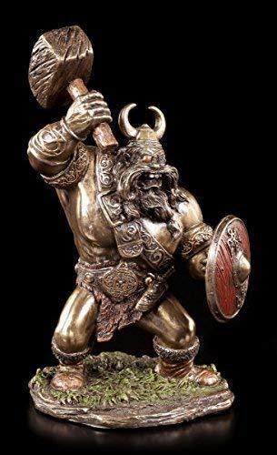 VIKINGO FIGURA CON HAMMER VERONESE Decoración óptica de bronce