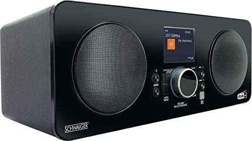 Schwaiger DAB650 513 - Internetradio | DAB+ FM oder WLAN | mit Stabantenne | mit Bluetooth | Weckerfunktion und Einschlafmodus | LCD Farbdisplay | automatischer Sendersuchlauf