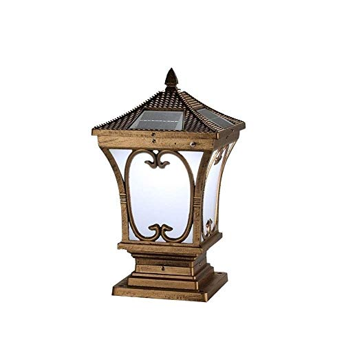 Leampp Paaldoppen op zonne-energie, IP65, glaswaszuil, lamp, LED, outdoor, zonnelamp, waterdicht, antieke creatieve zuil, lantaarn, buiten, super helder, patio verlichting
