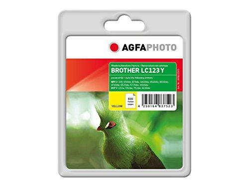 AgfaPhoto APB123YD cartucho de tinta Amarillo 11 ml -