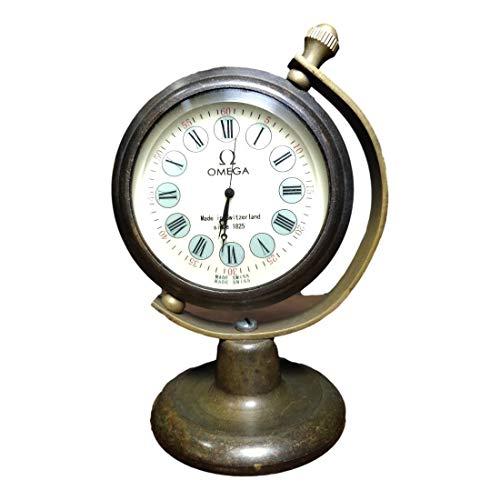 LAOJUNLU Colección antigua de Omega estilo europeo y americano puro cobre globo reloj mecánico