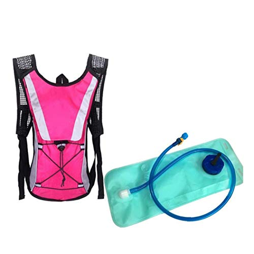 Ligera De Hidratación Mochila Con 2 L De Agua Agua De La Vejiga Perfecto Para Outdoor Running Ciclismo Escalada Bolsa Rosa Camping Esencial
