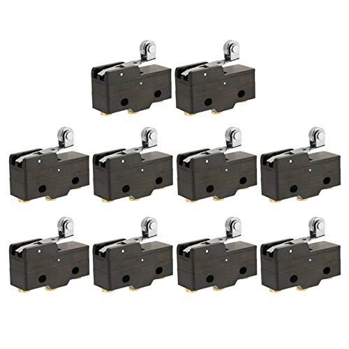 Interruptor de límite micro, interruptor de límite momentáneo de 10 piezas de acción rápida tipo palanca, para reemplazar la reparación