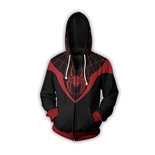 GYMAN The Amazing Spider-Man Sudaderas con Capucha A Prueba De Viento Fleece Sudaderas Chaqueta Informal Cosplay 3D Cubre con Bolsillo Canguro Imprimir,Medium