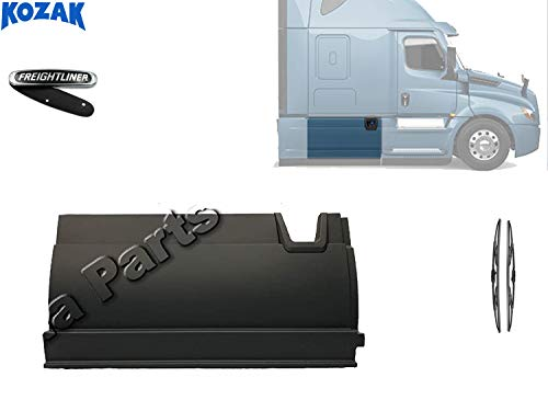 Kozak Middle Fairing Skirt Panel Right Side Only (Passenger Side) For Freightliner Cascadia 2017+ PLUS Freightliner Logo and 2x22Inch Windshield Wipers