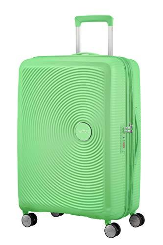American Tourister Soundbox - Spinner M Espandibile Valigia, 67 cm, 71.5/81 L, Verde (Spring Green)