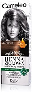 Cameleo Herbal Henna para colorear color crema color marrón oscuro 75 g Extracto Henna Natural con aceite marroquí