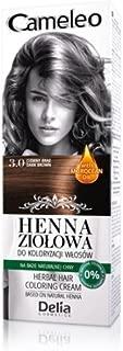 Cameleo Herbal Henna para colorear color crema color marrón oscuro 75g Extracto Henna Natural con aceite marroquí
