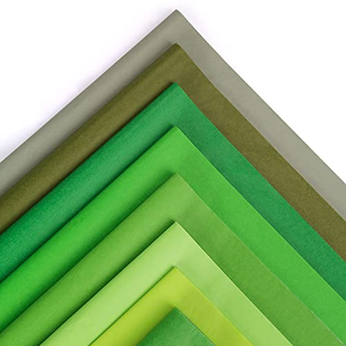 Shindel Tissue Gift Wrapping Paper Crafts, 160Sheets Green Wrapping Tissue, 19x13 inches, 8 Colors
