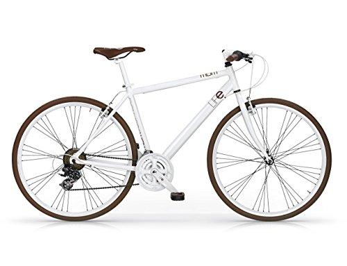 MBM Life, Bicicletta Ibrida Uomo, Bianco A28, 50