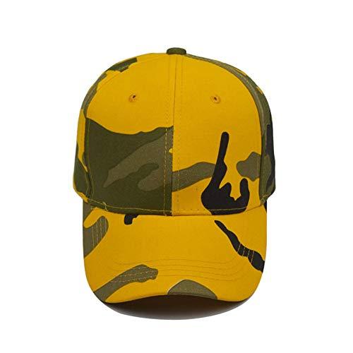 Baseball Cap Sommer Outdoor Camouflage Army Cap Mode Sonnenblenden Baseballmütze Für Frauen Männer Gelb GreenCaps Cap Man
