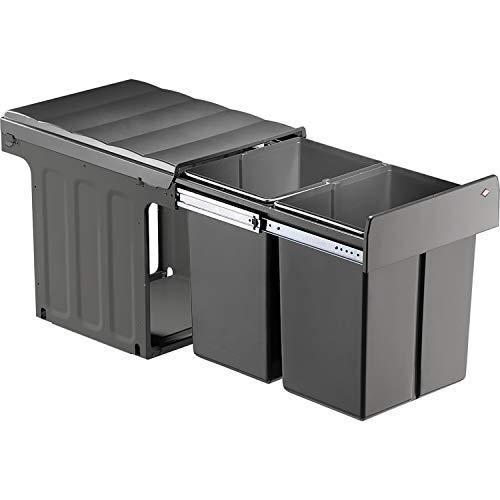 WESCO Profiline Double-Master-Maxi 40 DT Einbau-Abfallsammler, 2 x 20 L, 1 Stück, anthrazit,887911-11