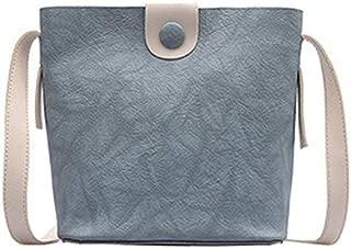 TOOGOO New Fashion Wild Simple Bucket Bag Spring And Summer Foreign Shoulder Shoulder Messenger Bag Green