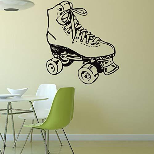 Wandtattoo Rollschuhe Wandaufkleber DIY Wandsticker Acryl Wandbild für Wohnzimmer Schlafzimmer Babyzimmer Kinderzimmer Wand Deko Aufkleber