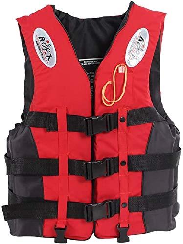 Lloow Rettungswesten mit Pfeifen Schwimmweste Feststoffweste Kinder Erwachsene Baby Life Jackets,Rot,XL