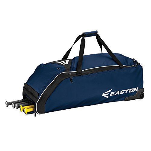 Easton E610W Bat & Equipment Wheeled Bag | Baseball Softball | 2019 | 4 Bat Compartment | Vented Pockets - Minimize Odor & Quick Dry | Removable Shoe Pocket | Lockable Zippered Pockets | Fence Hook